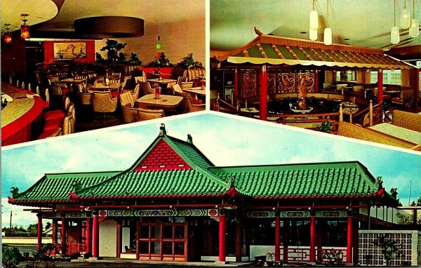 Chinese Gardens Exotic Chinese Restaurant Portland Oregon Postcard